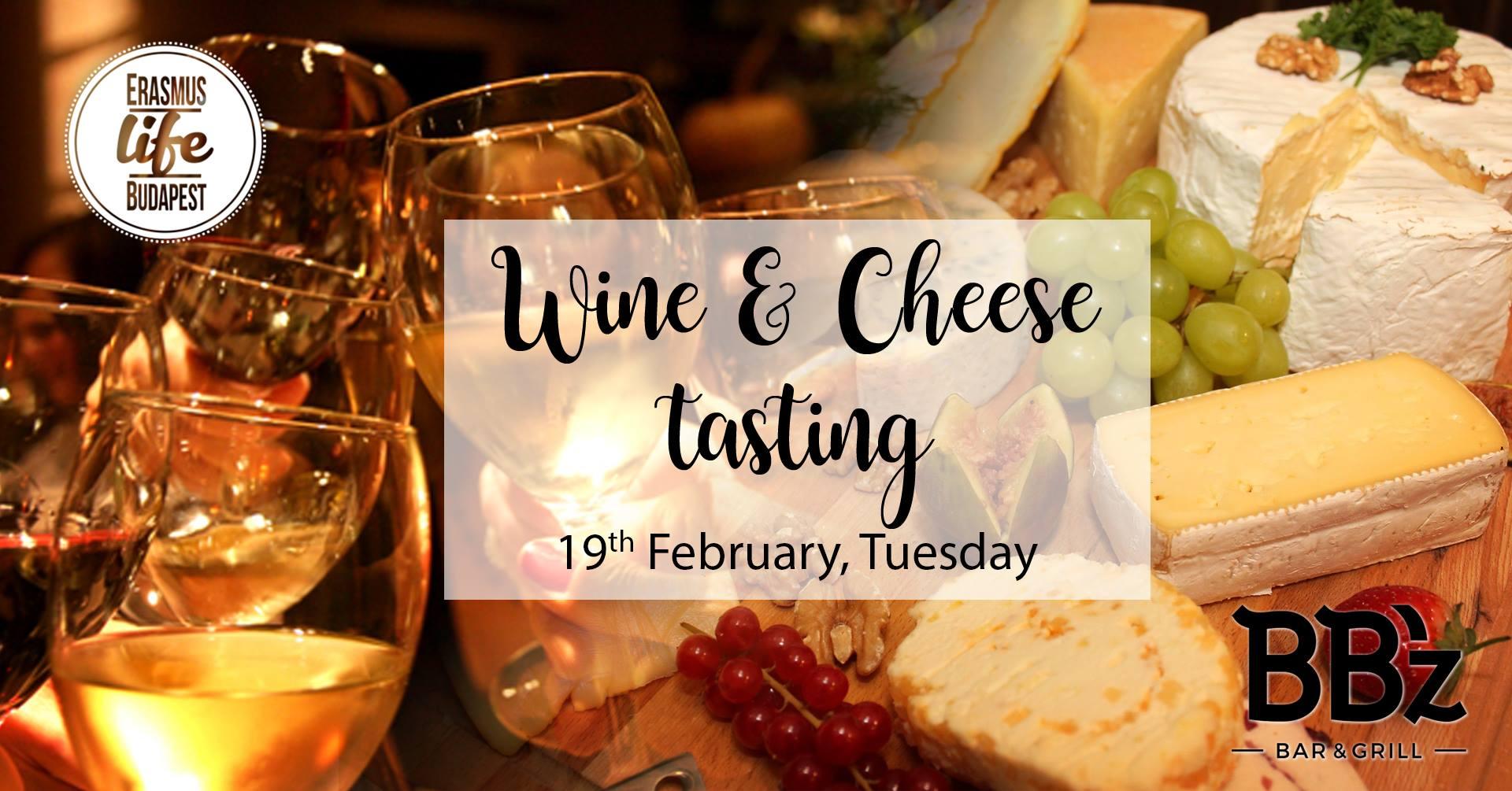 Hungarian Wine & Cheese Tasting w/ Erasmus Life Budapest -19 Feb
